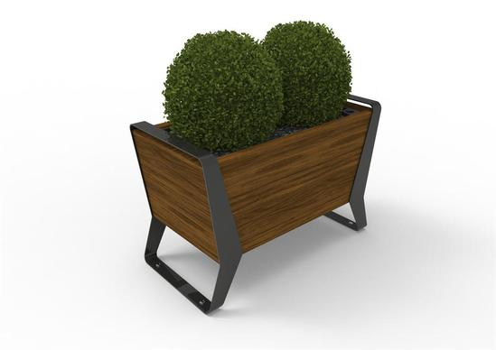 Stratic planter - Copper and Carbon finishes