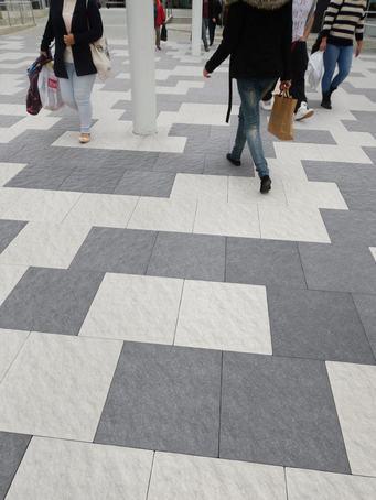 Rivero leather-effect concrete paving