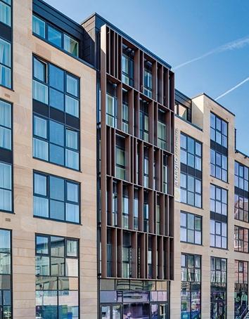 Sandstone facade - Adagio Hotel, Edinburgh