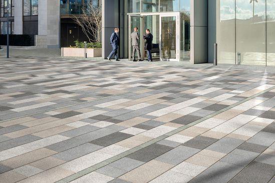Modal concrete paving, Mid Grey Granite