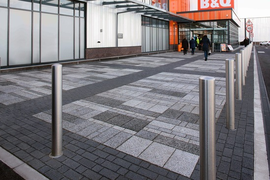 Modal and Myriad block paving