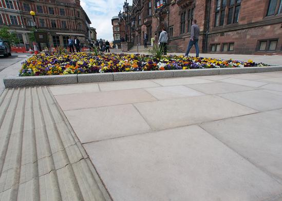 Marshalls Brackendale buff sandstone paving Coventry