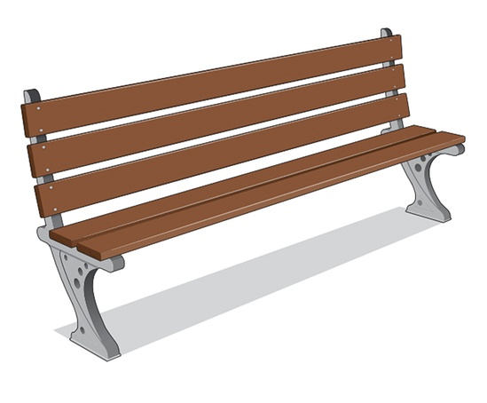 ASF 550 traditional cast iron and timber bench