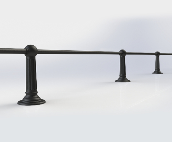 ASF Belgrave Recycled Cast Iron Knee Rail Post