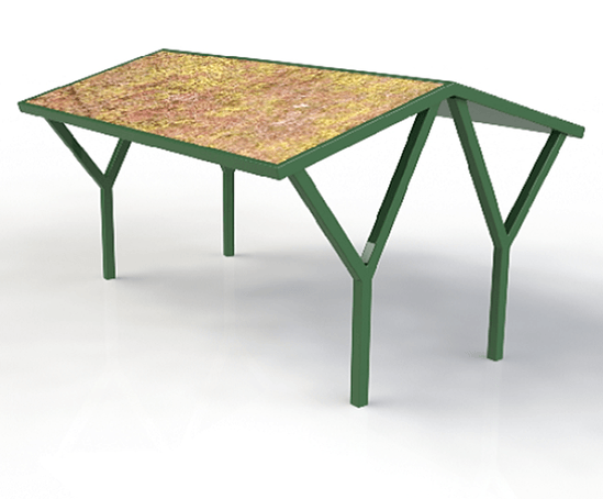 ASF Green Roof Double Cycle Shelter