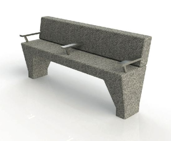 ASF Modernist Granite Bench Seat