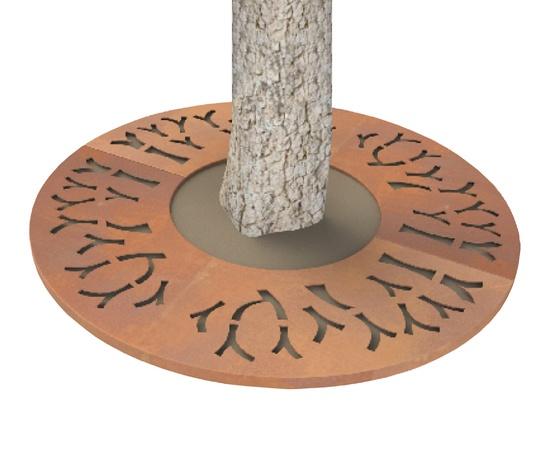 ASF Corten Steel - Branch Round Laser Cut Tree Grille