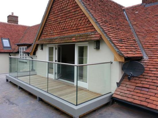 ASF channel fixed glass balustrade with top rail