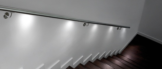 ASF interior handrail with LED spot lights