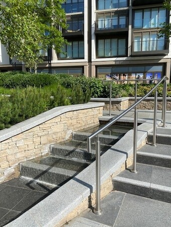 ASF Stainless Steel Handrail Step Units