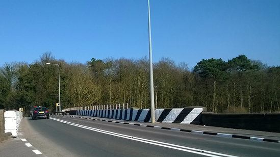 Meon road markings improve safety at Tarleton Bridge