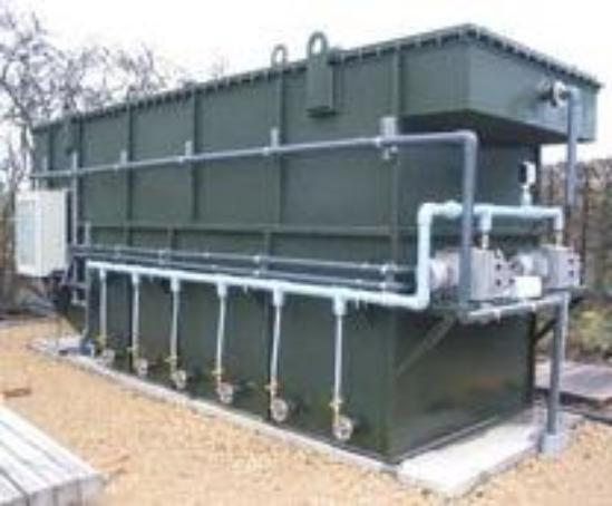 Skid mounted sewage treatment packages