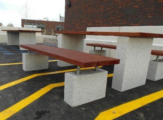 Hamble Concrete Hardwood Street Furniture Neptune Street Furniture Esi External Works