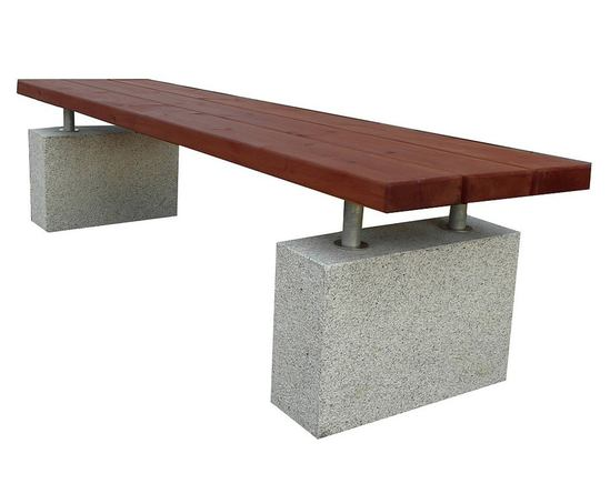 Hamble concrete / hardwood bench