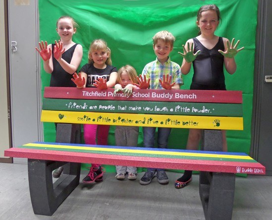 Bench Fosters Friendship And Caring At Primary School