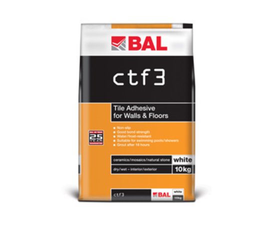 CTF3 tile adhesive for walls and floors