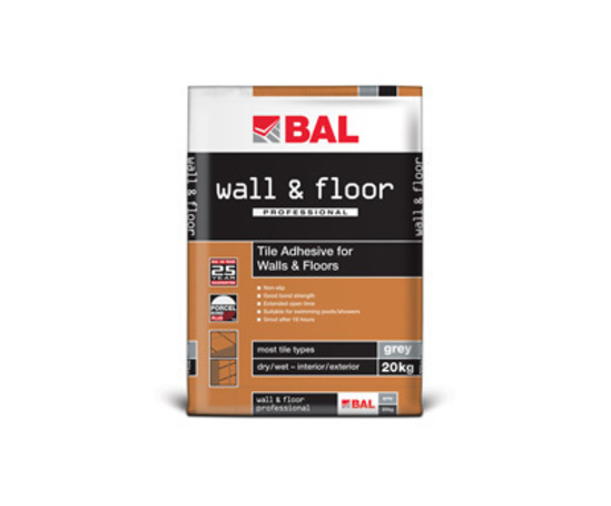 BAL professional wall and floor tile adhesive