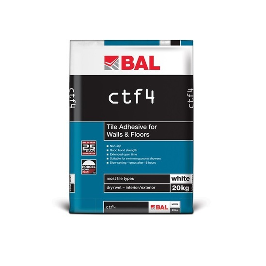 CTF4 tile adhesive for walls and floors