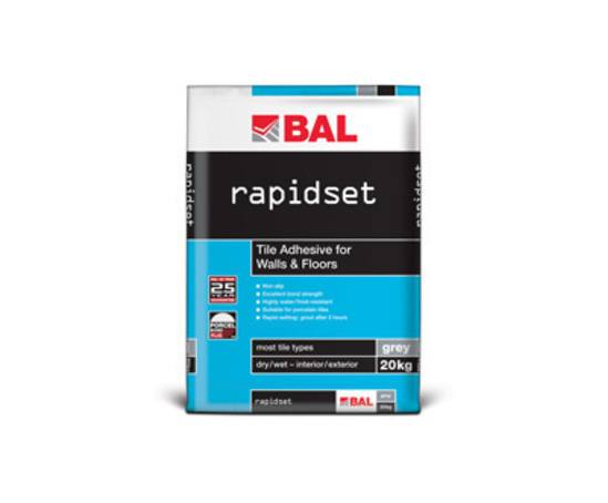 Rapidset tile adhesive for walls and floors