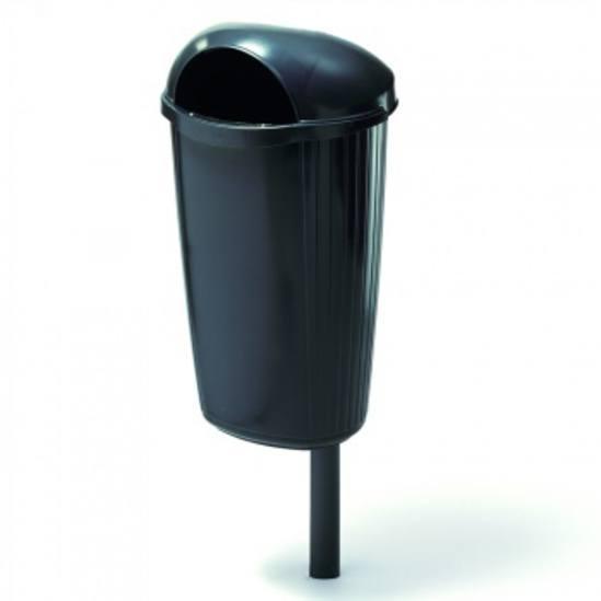TD DINOVA 50 post-mounted litter bin