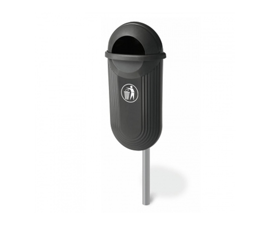 TD STRADA 50 post-mounted litter bin