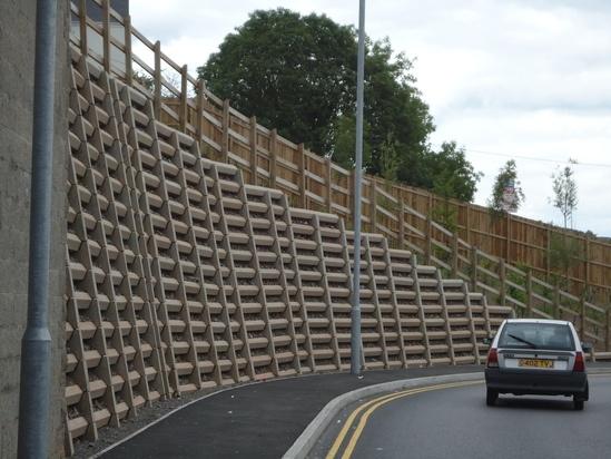 Andacrib concrete crib retaining wall system