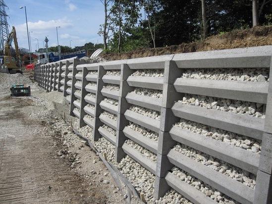 Andacrib Concrete Crib Retaining Wall System Phi Group