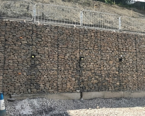 Gabion Retaining Wall For Horfield Cutting Phi Group