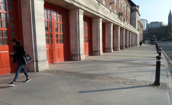Granite slabs and setts, West Midlands Fire Station
