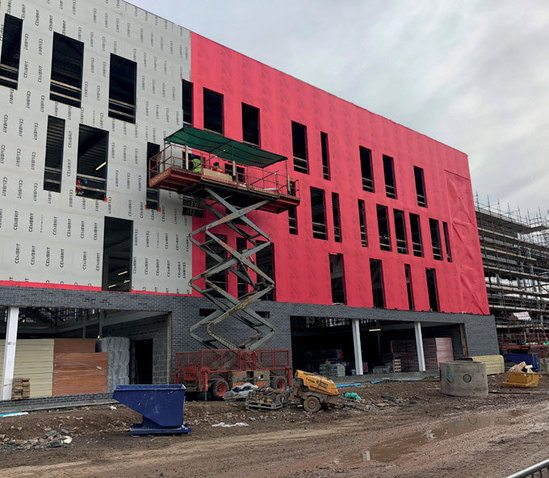 Wraptite external air barrier system - Armagh College