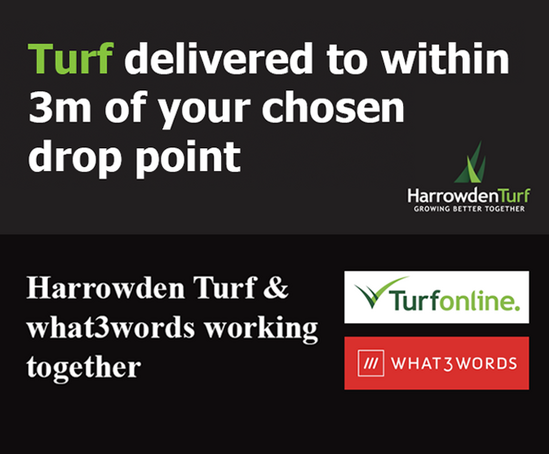 Precision turf delivery with what3words