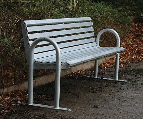 open spaces Caldecott contemporary metal seat