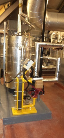 Plate heat exchanger at University of Liverpool
