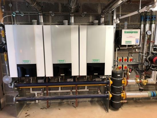 Custom built Modupak heating solution