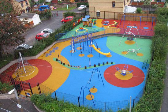 Colourful safety surfacing design from RTC