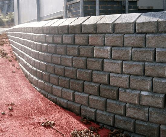Precast Concrete Retaining Wall Systems : Chevloc split faced precast concrete retaining wall