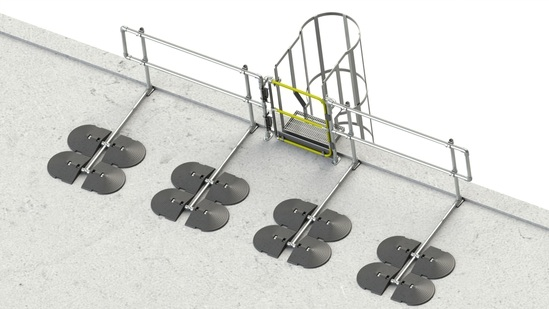 Safety gates for ladders from Safesite