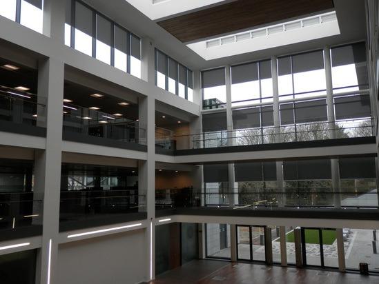 Modern roller blinds for apache north sea ltd hq silent for Modern design building services ltd