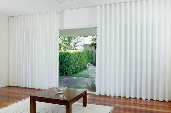 Cord-operated curtain track systems