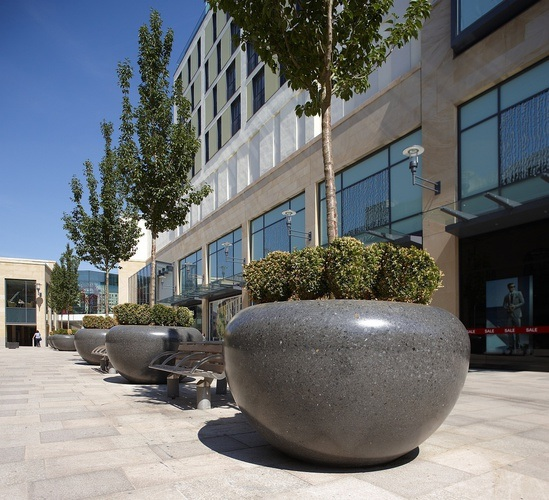 Giove large protective planters, Cardiff