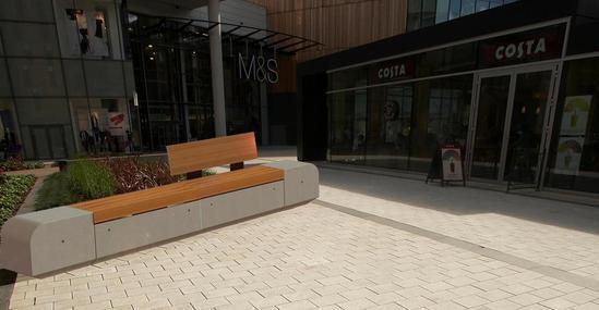 Metrolinia Concrete And Timber Modular Seating Marshalls