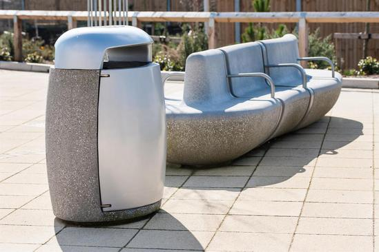 Monoscape Igneo Concrete Bin Marshalls Street Furniture Esi External Works