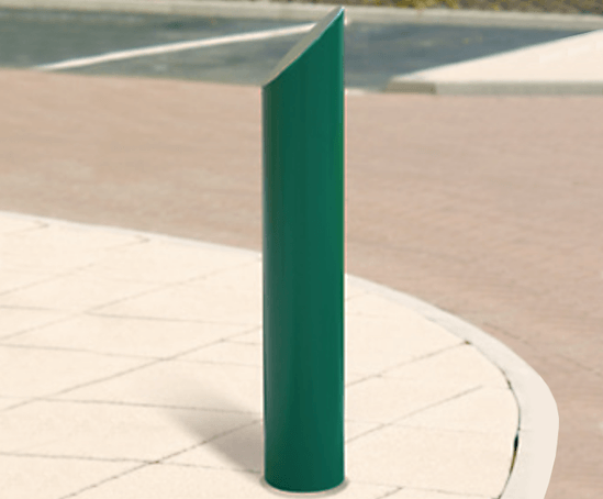 Rhino RB123 mitre top steel bollard