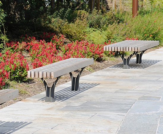 Idylle bench - slim and wide format