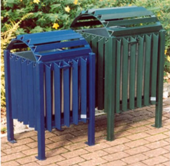 Cardiff litter bin - resistant to harsh environments