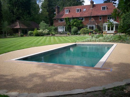 Resin Bound Swimming Pool Surrounds Sureset Permeable Paving Esi External Works