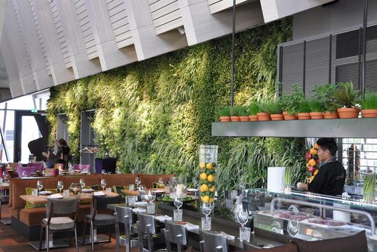 Vertiss living green wall for restaurant in Hamburg