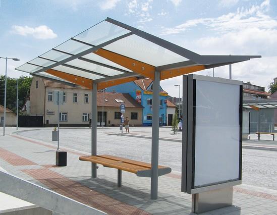 Steel Bus Shelters : Regio passenger waiting shelter environmental street