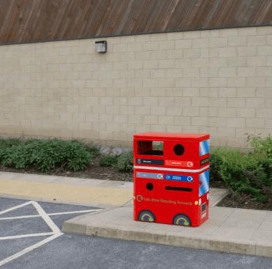 Double Decker Bus recycling bin from ESF