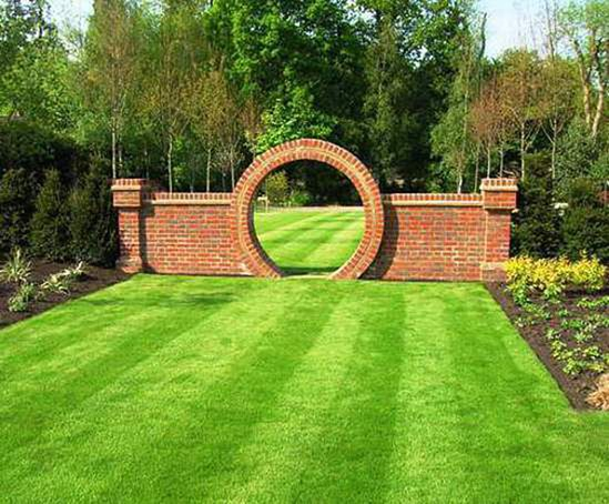 Well manicured lawns